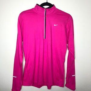 Nike Dri-Fit Half Zip Pullover Running Jacket Pink